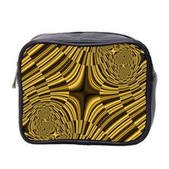 Fractal Golden River Mini Toiletries Bag 2 Side