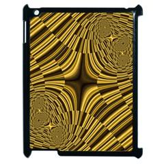 Fractal Golden River Apple Ipad 2 Case (black)