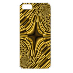 Fractal Golden River Apple Iphone 5 Seamless Case (white)