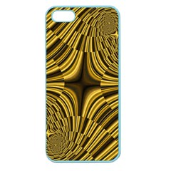Fractal Golden River Apple Seamless iPhone 5 Case (Color)