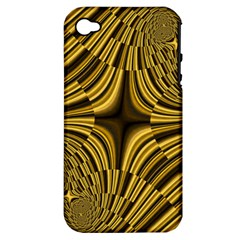 Fractal Golden River Apple iPhone 4/4S Hardshell Case (PC+Silicone)