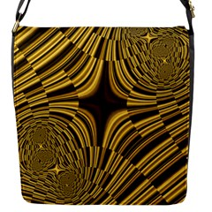 Fractal Golden River Flap Messenger Bag (S)