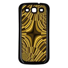 Fractal Golden River Samsung Galaxy S3 Back Case (Black)