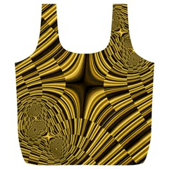 Fractal Golden River Full Print Recycle Bags (L)