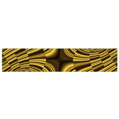 Fractal Golden River Flano Scarf (small)