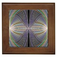 Color Fractal Symmetric Wave Lines Framed Tiles