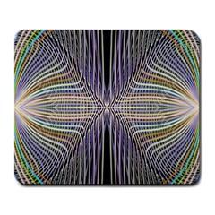 Color Fractal Symmetric Wave Lines Large Mousepads