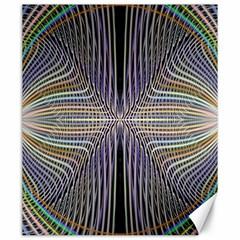 Color Fractal Symmetric Wave Lines Canvas 20  X 24
