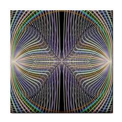 Color Fractal Symmetric Wave Lines Face Towel