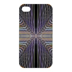 Color Fractal Symmetric Wave Lines Apple Iphone 4/4s Premium Hardshell Case