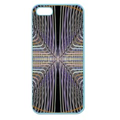 Color Fractal Symmetric Wave Lines Apple Seamless iPhone 5 Case (Color)