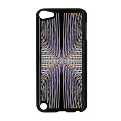 Color Fractal Symmetric Wave Lines Apple iPod Touch 5 Case (Black)