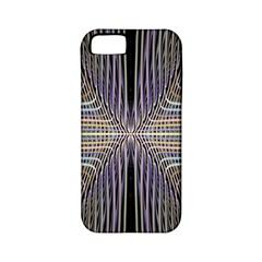 Color Fractal Symmetric Wave Lines Apple iPhone 5 Classic Hardshell Case (PC+Silicone)