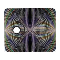 Color Fractal Symmetric Wave Lines Galaxy S3 (Flip/Folio)