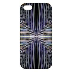 Color Fractal Symmetric Wave Lines Apple iPhone 5 Premium Hardshell Case
