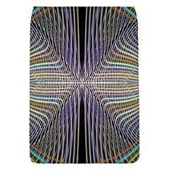 Color Fractal Symmetric Wave Lines Flap Covers (S)