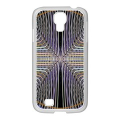 Color Fractal Symmetric Wave Lines Samsung GALAXY S4 I9500/ I9505 Case (White)