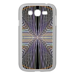 Color Fractal Symmetric Wave Lines Samsung Galaxy Grand DUOS I9082 Case (White)