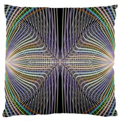 Color Fractal Symmetric Wave Lines Standard Flano Cushion Case (One Side)