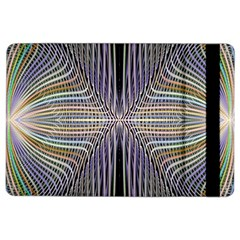 Color Fractal Symmetric Wave Lines iPad Air 2 Flip