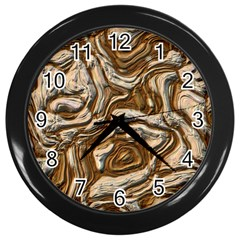 Fractal Background Mud Flow Wall Clocks (Black)