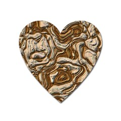 Fractal Background Mud Flow Heart Magnet