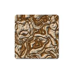 Fractal Background Mud Flow Square Magnet