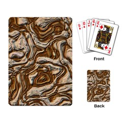 Fractal Background Mud Flow Playing Card