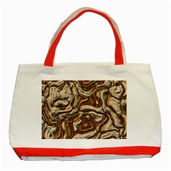 Fractal Background Mud Flow Classic Tote Bag (red)
