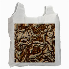 Fractal Background Mud Flow Recycle Bag (two Side)