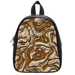 Fractal Background Mud Flow School Bags (small)