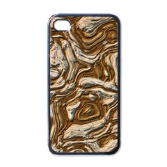 Fractal Background Mud Flow Apple Iphone 4 Case (black)