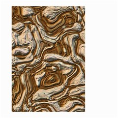 Fractal Background Mud Flow Small Garden Flag (Two Sides)