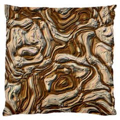 Fractal Background Mud Flow Large Cushion Case (Two Sides)