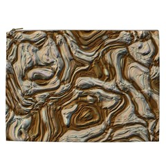 Fractal Background Mud Flow Cosmetic Bag (XXL)