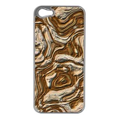 Fractal Background Mud Flow Apple iPhone 5 Case (Silver)