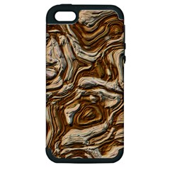 Fractal Background Mud Flow Apple iPhone 5 Hardshell Case (PC+Silicone)