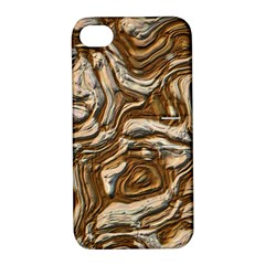 Fractal Background Mud Flow Apple Iphone 4/4s Hardshell Case With Stand