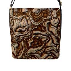 Fractal Background Mud Flow Flap Messenger Bag (l)
