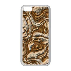 Fractal Background Mud Flow Apple iPhone 5C Seamless Case (White)