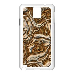 Fractal Background Mud Flow Samsung Galaxy Note 3 N9005 Case (White)