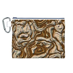 Fractal Background Mud Flow Canvas Cosmetic Bag (l)
