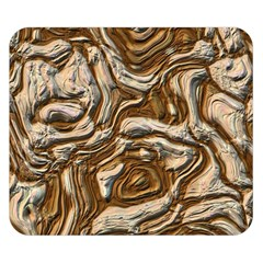 Fractal Background Mud Flow Double Sided Flano Blanket (small)