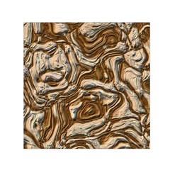 Fractal Background Mud Flow Small Satin Scarf (square)
