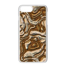 Fractal Background Mud Flow Apple Iphone 7 Plus White Seamless Case