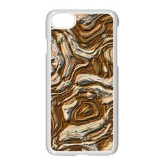 Fractal Background Mud Flow Apple iPhone 7 Seamless Case (White)