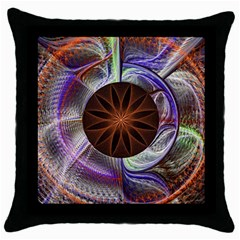 Background Image With Hidden Fractal Flower Throw Pillow Case (black)