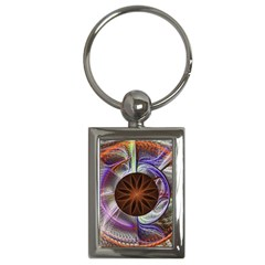 Background Image With Hidden Fractal Flower Key Chains (Rectangle)