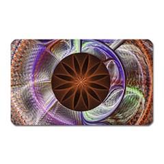 Background Image With Hidden Fractal Flower Magnet (rectangular)