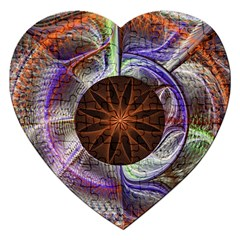 Background Image With Hidden Fractal Flower Jigsaw Puzzle (Heart)